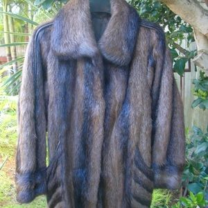 Jackets & Blazers - Directional Nutria Fur Coat Made in Germany Vintag